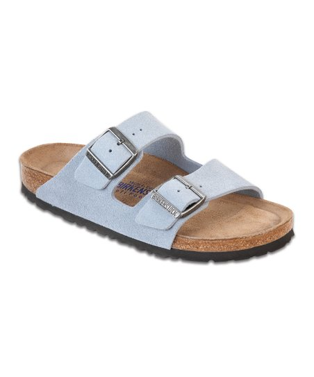 1d6b5d493426 Birkenstock Dream Blue Suede Arizona Slide - Women