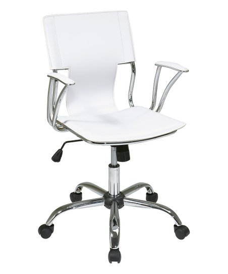 Osp Home Furnishings White Chrome Dorado Office Chair Best Price And Reviews Zulily