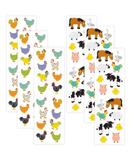 Mrs  Grossman's Chubby Chickens & Chubby Farm Animals Sticker Set