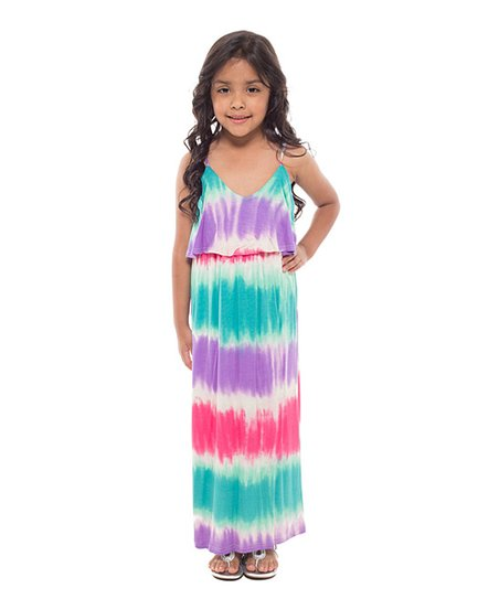 Coveted Clothing Pastel Tie Dye Maxi Dress Girls Zulily