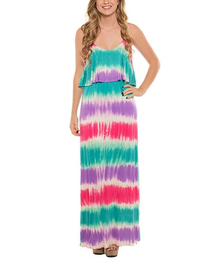 5eab0651453 Coveted Clothing Pastel Tie-Dye Maxi Dress