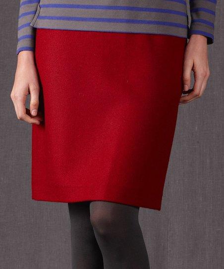 bb4b656ef0 love this product Red British Tweed Wool Skirt - Women