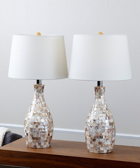 Mother Of Pearl Table Lamp Set Of Two Zulily