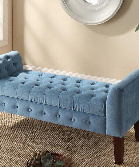Fantastic Homepop Aqua Storage Bench Settee Zulily Frankydiablos Diy Chair Ideas Frankydiabloscom