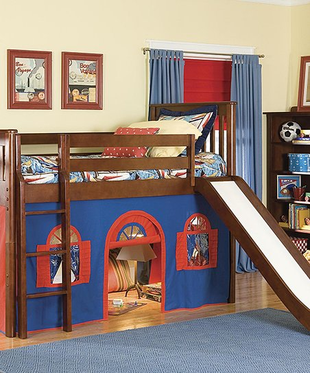 Bolton Furniture Blue Red Playhouse Curtain Slide Loft Bed Zulily