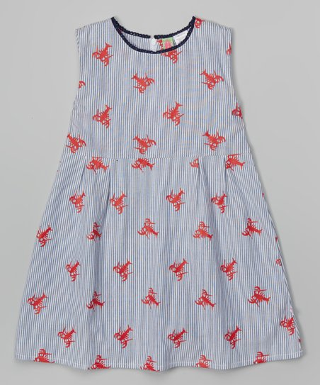 7a48d0883e2 love this product Blue Seersucker Lobster Dress - Infant