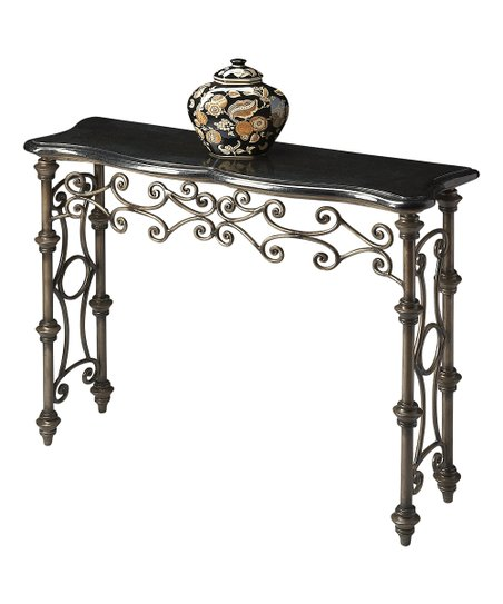 Surprising Black Gray Fossil Stone Console Table Spiritservingveterans Wood Chair Design Ideas Spiritservingveteransorg