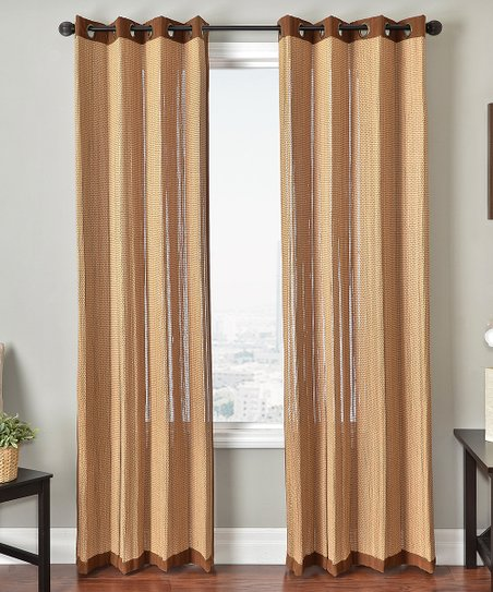 Bamboo Oak Grommet Curtain Panel