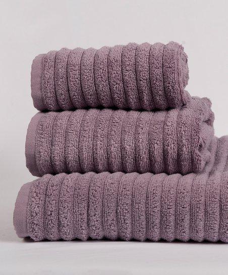 Adivik Linen Eggplant Florence Bath Towel Set Zulily