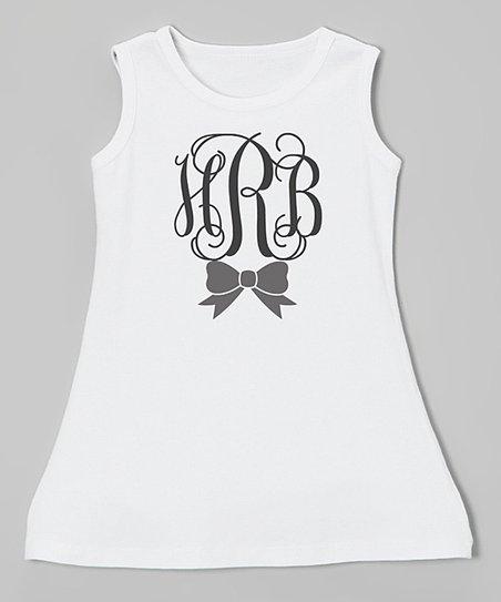 3797a339 love this product White & Black Monogram Shift Dress - Infant, Toddler &  Girls