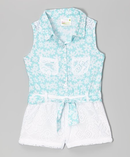 96bcadf7a53 love this product Mint Green Floral Lace Romper - Infant