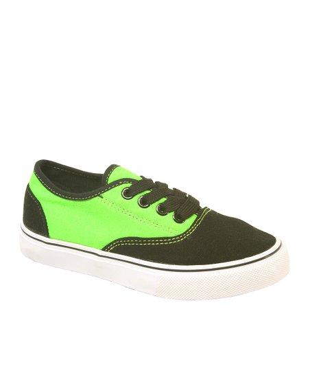 newest b7b05 d9447 DEK Black & Neon Green Dart Sneaker