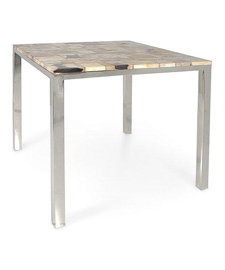Mosaic Petrified Wood Dining Table