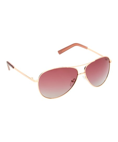 f1be665fbb Cole Haan Rose Gold Aviator Sunglasses