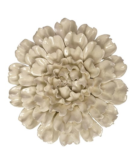 Imax Isabella Large Ceramic Flower Wall Art