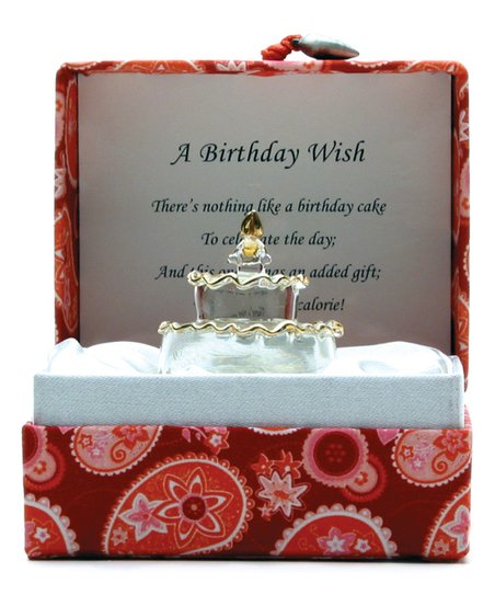 About Face Designs Birthday Cake Figurine Paisley Messenger Box