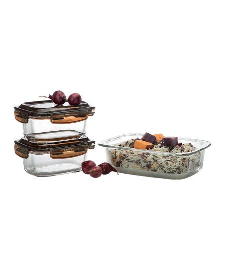 Komax Glass Look Container Six-Piece Set