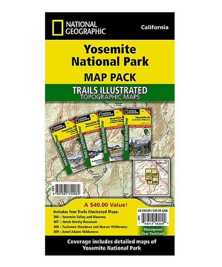 National Geographic Yosemite National Park Waterproof Topographic