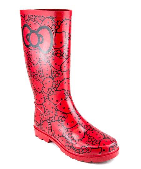 4492e9ab1 Black & Red Hello Kitty Tallalah Rainboot | Zulily
