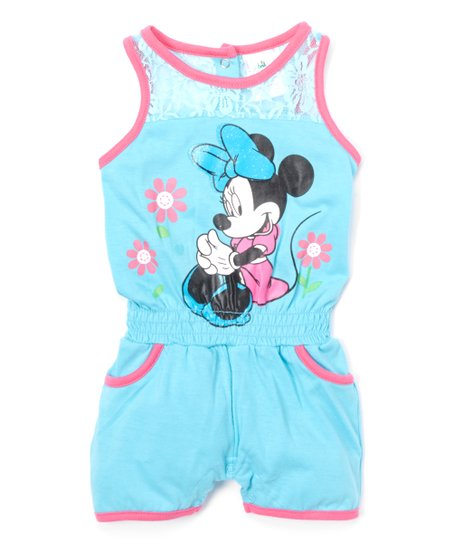 920950c1bc7f Childrens Apparel Network Minnie Mouse Blue   Pink Romper - Infant ...