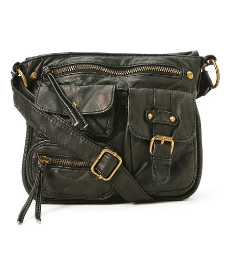 T-Shirt   Jeans Handbags Black Multi-Pocket Crossbody Bag  faf824ffd37dc