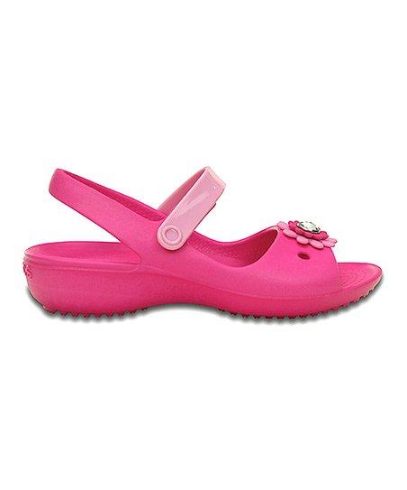 ca40534edb8b7 Crocs Neon Magenta Keeley Mini Wedge - Toddler