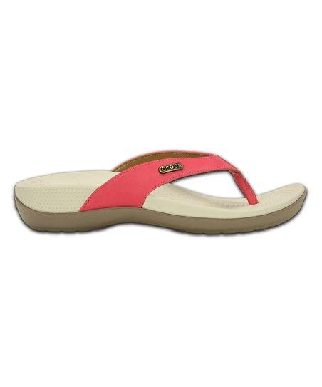 46ae768cf6e1 love this product Poppy   Mushroom Ella ComfortPath Leather Flip-Flop -  Women