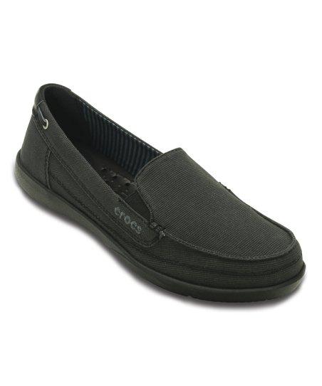 Crocs Black Walu Canvas Loafer - Women