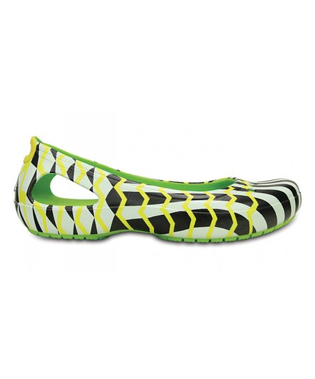 9159b3dd45e5 love this product Volt Green   Black Mondo Chevron Kadee Flat - Women