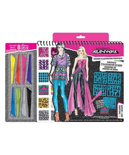 Project Runway Fashion Sketch Portfolio Pencils Zulily