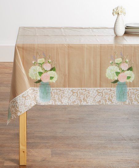 Creative Converting Rustic Wedding Plastic Table Cover Set Of Two