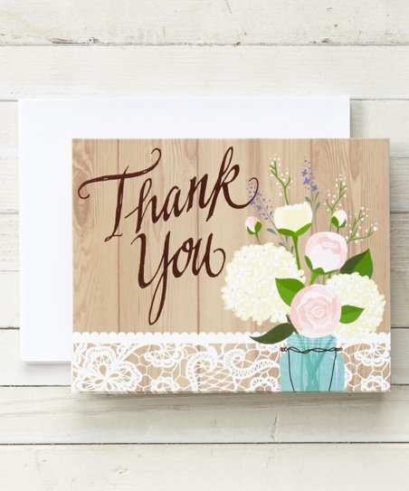 Creative Converting Rustic Wedding Thank You Cards Set Of 24 Zulily