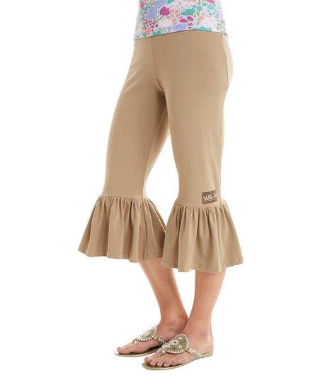 27ee85b733 Matilda Jane Clothing Beige Ticket Booth Big Ruffles Pants - Women ...
