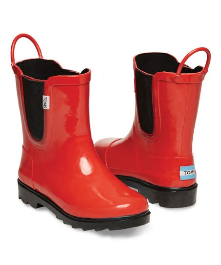 404eacdd9d9 love this product Red   Black Rain Boot - Youth