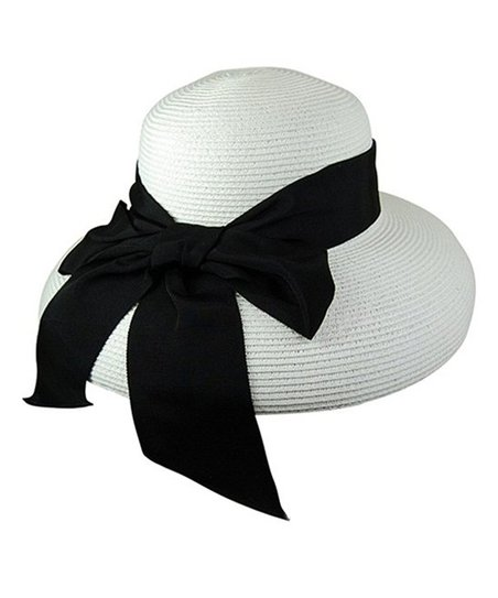 9fb97318672 love this product White   Black Bow Lampshade UPF 50+ Sunhat