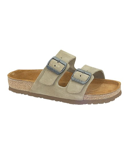 4aff5ef478ea love this product Taupe Suede Santa Barbara Sandal - Women