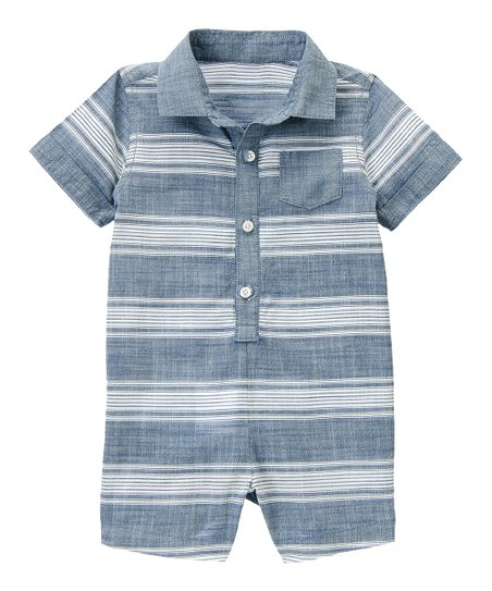 3938d9deb7e8 Gymboree Denim Stripe Chambray Romper - Infant