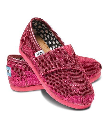 f752ea99366 TOMS Hot Pink Glitter Classics - Tiny