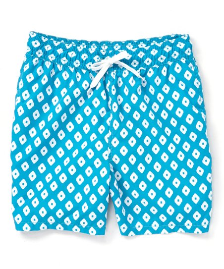 c25d6e68a2e8 Kanu Surf Aqua Capri Geo Swim Trunks - Men | Zulily