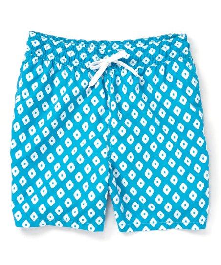 3e24bd1f27 Kanu Surf Aqua Capri Geo Swim Trunks - Men | Zulily