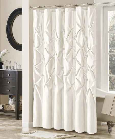 White Laurel Shower Curtain