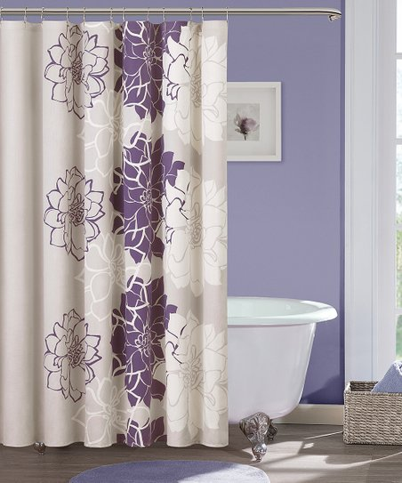 Love This Product Purple Floral Shower Curtain