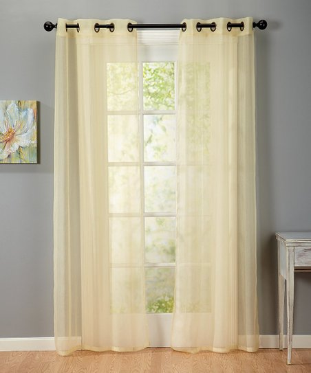 Soft Gold Newbury Crushed Voile Curtain