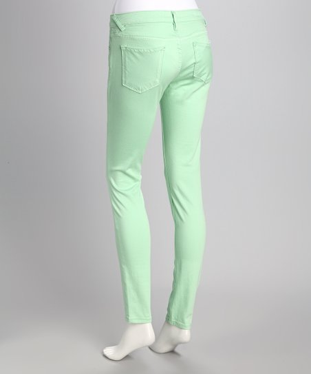 4675ca4108a love this product Mint Jagger Super Skinny Jeans