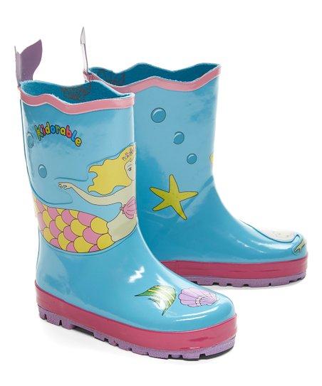 Aqua Mermaid Rain Boot - Girls