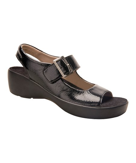 007d8883a Barefoot Freedom Black Krinkle Avalon Leather Sandal - Women