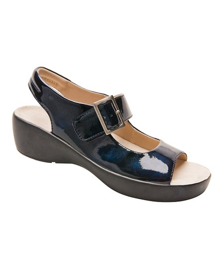 80813de79 Barefoot Freedom Blue Marble Avalon Leather Sandal - Women