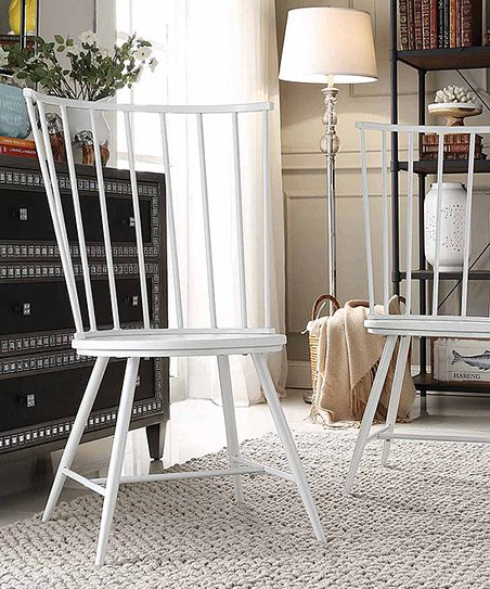 Fabulous Blaine Collection White Warren High Back Windsor Chair Set Pdpeps Interior Chair Design Pdpepsorg
