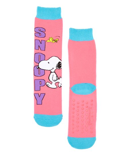 f1b29531aa Ashko Fuschia Peanuts Snoopy Two-Pair Gripper Socks Set - Kids