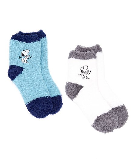 e6c1e1c909 love this product White   Blue Peanuts Snoopy Two-Pair Socks Set - Kids